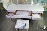Picture of Stag Minstrel Dressing Table with New Stool in Ammonite