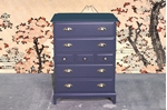 Picture of Stag Minstrel 7 Drawer Tall Chest - Off Black