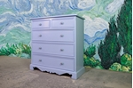 Picture of Antique Pine 5 Drawer Chest in Lulworth Blue