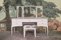 Picture of Stag Minstrel Dressing Table +New Stool in Ammonite / Belvedere Midnight