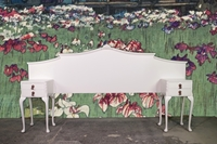 Picture of Vintage Double Headboard with Bedside Tables