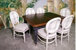 Picture of Antique Victorian Extending Wind Out Table and 6 Balloon Back Chairs