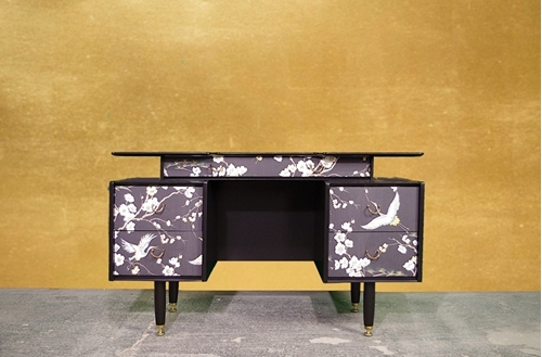 Picture of 1950s G Plan Tola Dressing Table/Sideboard - Cranes and Blossom