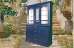 Picture of Antique Victorian Display Dresser in Hague Blue