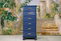 Picture of Tall Pine Chest of Drawers in Hague Blue