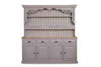 Picture of Large Bespoke Rustic Pine Dresser - Pavilion Gray