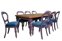 Picture of Antique Victorian Extending Wind Out Table and 8 Balloon Back Chairs