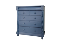 Picture of Large Antique Scotch Chest of Drawers in Carbon Blue