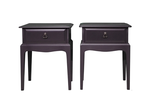 Picture of Pair of Stag Bedside Tables - Paean Black